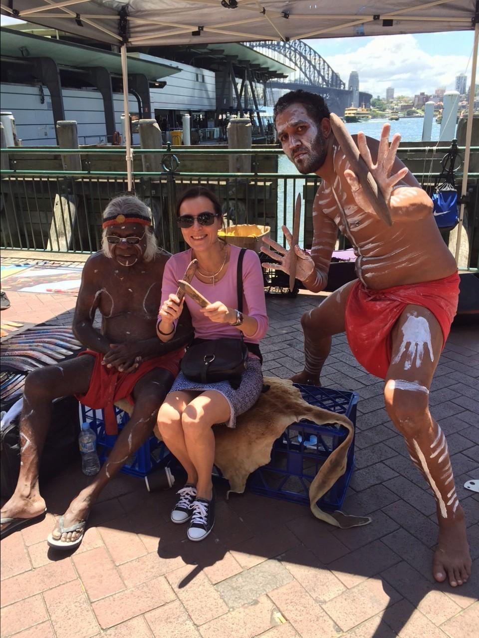 S pôvodnými obyvateľmi Austrálie - Aborigéncami