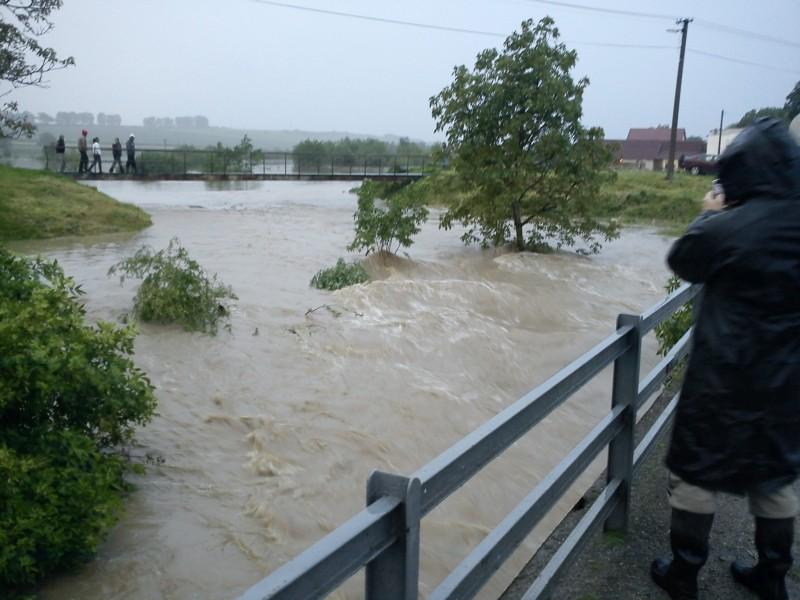 záplavy Nižný Žipov 1