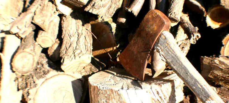 Sekera skončila namiesto dreva v hlave