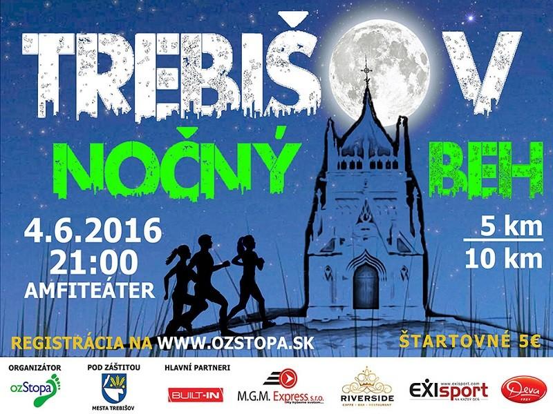 Trebišovský nočný beh 2016